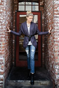 TK7469A - SOLID BRUSHED HACCI CARDIGAN