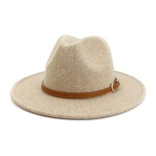 BROWN BELT PANAMA HAT-AC00801-B721
