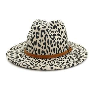 LEOPARD PANAMA HAT-AC19601-B829