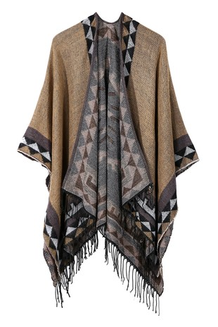 PATTERNED TRENDY FASHION SHAWL-AC14433