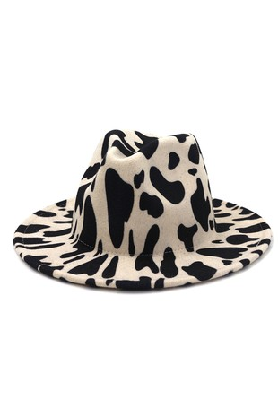 COW PATTERN TRENDY PANAMA HAT-ACQQ1001-B918