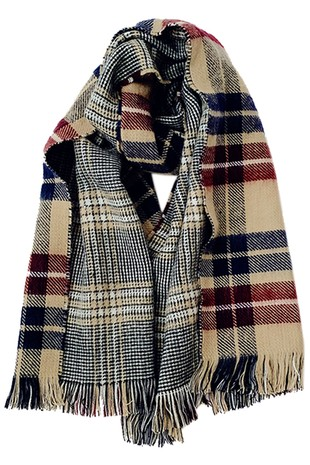 PLAID PATTERN FASHION SCARF-AC072010235