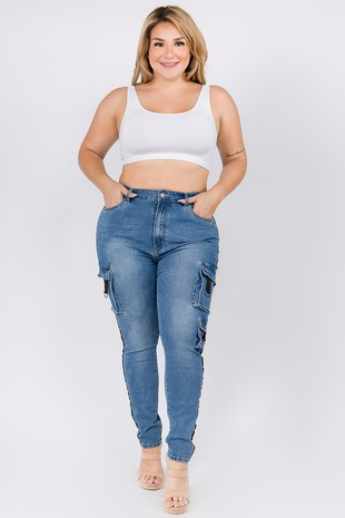 RJH-3820 PLUS SIZE SKINNY JEANS