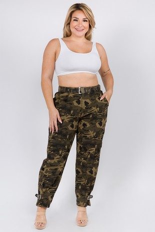 RJH-20018 PLUS SIZE CARGO PANTS