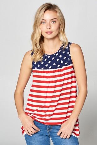 Best American Flag sleeveless top
