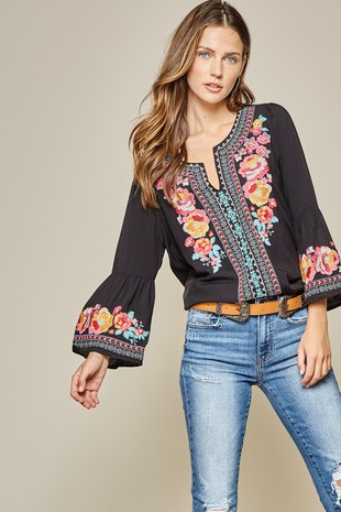 M12884 EMBROIDERY TOP