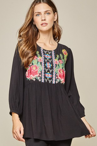 K18252 EMBROIDERY TOP