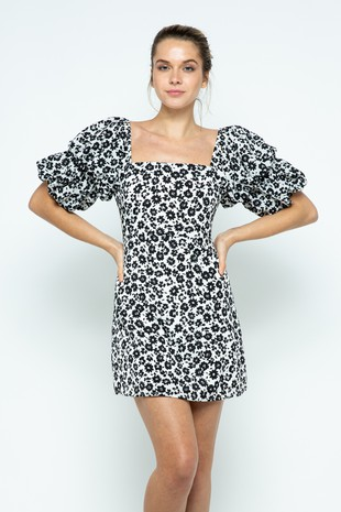 D6475 Black Mini-Dress