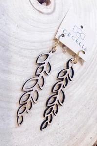 2533 Leaf Wooden Earrings