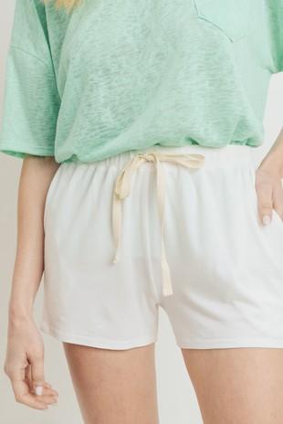 P2452 Drawstring Twill Tape Knit Shorts
