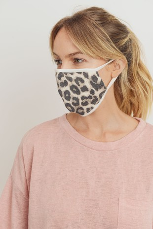 MK 1001 Leopard Print Thermal Face Mask