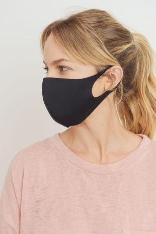 MK5529 Solid Color Knit Face Mask