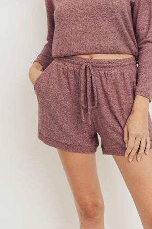 P2474 Brushed Intermingle Pocket Knit Shorts