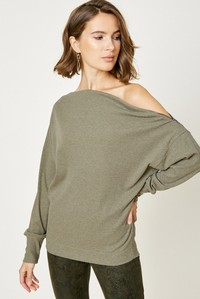 H8048 Ribbed Side-Zip Sweater