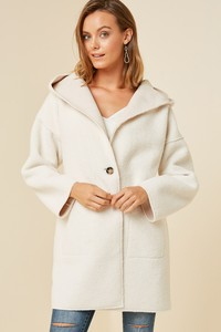 H6607 Reversible Hooded Sherpa Coat.