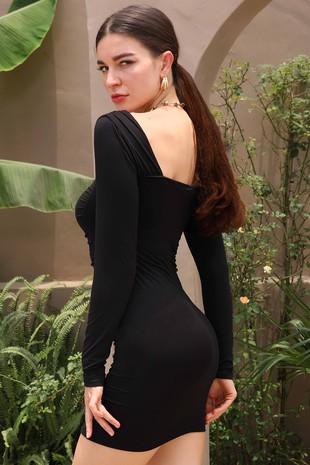 CWDSD565-Front Shirring Dress1