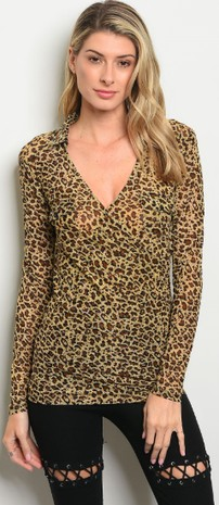 LEOPARD ANIMAL PRINT TOP 2-2-2