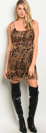 BROWN LEOPARD PRINT DRESS 1-2-2-1