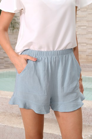 POCKETED FLUTTER RUFFLE SHORTS-LI7724109-28