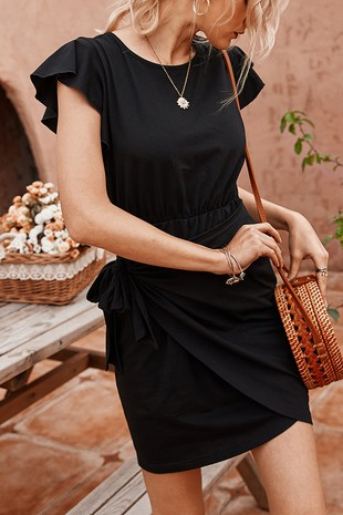 WRAP CASUAL DRESS-LI20300128