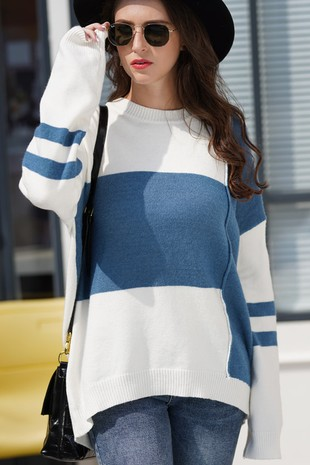 COLOR BLOCKED SWEATER-LI206401-B8091