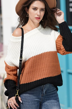 OFF SHOULDER SWEATER-LI206501-B8091