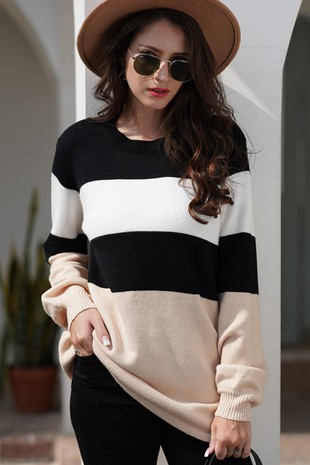 BLOCKED SWEATER-LI206801-N
