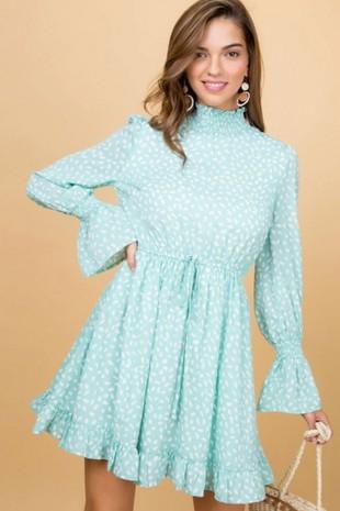 LD51138 PRINT DRESS...