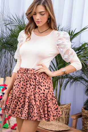 LP80138 LEOPARD SKIRT.
