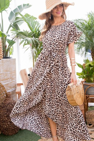 LD51201 LEOPARD MAXI DRESS
