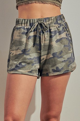 P0431 - CAMOUFLAGE PRINT LOUNGE SHORTS