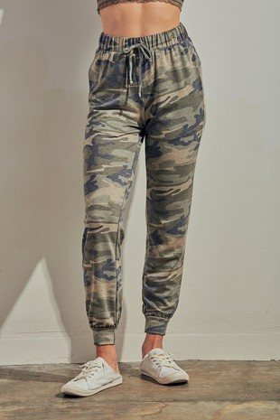 P0430 - CAMOUFLAGE PRINT LOUNGE JOGGER PANTS