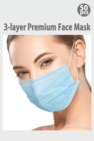MASK01 3 LAYER PREMIUM DISPOSABLE FACE MASK