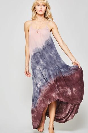 ae0f19a497f2 DD3037 Promesa Tie-Dye High-Low Maxi Sack Dress