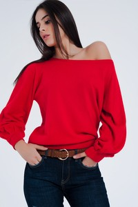 5935209 boat neck pullover knit sweater