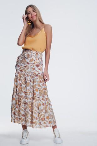 2965932 midi skirt jungle floral print