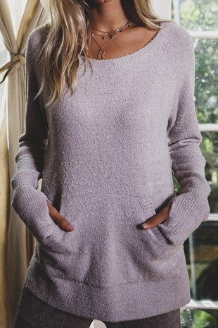 RK2738 SUPER SOFT BRUSHED KNITTED SWEATER TOP