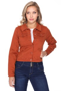Womens Color Denim Jackets with Pockets X094-J