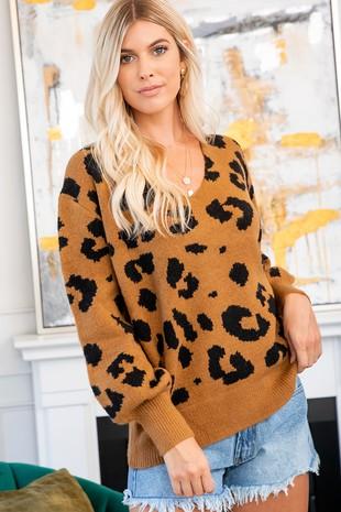 SW101 Leopard .Sweater