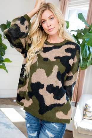 SW143 Sweater Camouflage..
