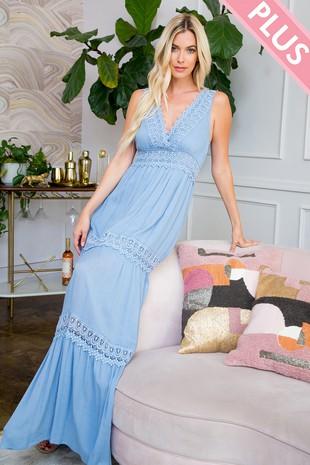 SD123PL Plus. Size Maxi Dress...