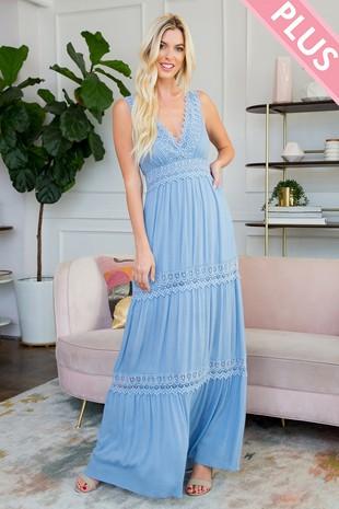 SD123PL Plus Size Maxi Dress