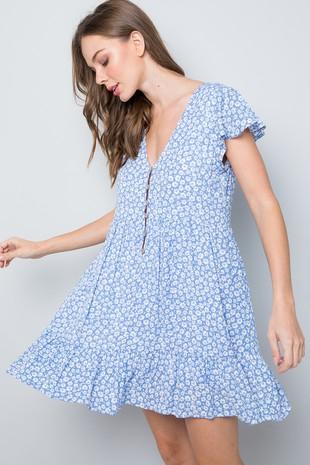 Amy K Ladies Cold Shoulder Dress Coral Shimmer New ref 490
