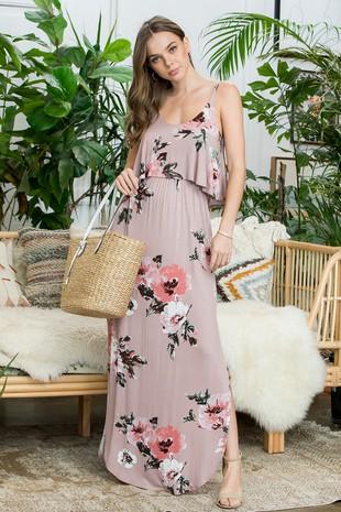 SD5302.. Floral Maxi Dress  .