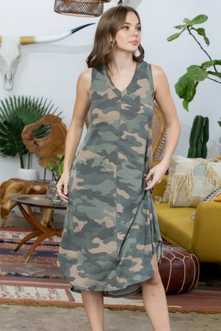 SD5303 Camouflage Jersey Dress....