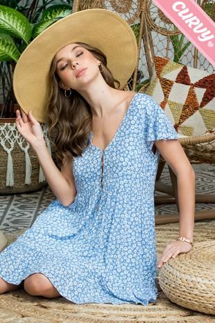 SW512PL  Floral. Print Dress....