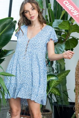 SW512PL  Floral Print Dress...............