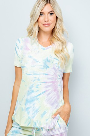 ST1458 Tie-dye.. short sleeve top..