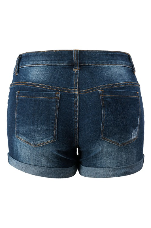 0975-8931 Distressed Vintage Denim Shorts   ( by Trend Notes )