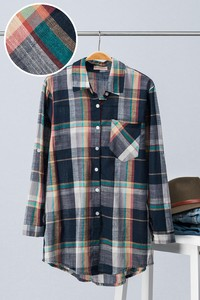 1559-1055-4 Multi-Colored Plaid Button Up Shirt